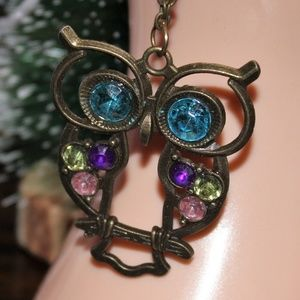 Jewelry - **New** Vintage look owl necklace
